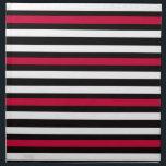 "Black Stripe Red White Napkin<br><div class=""desc"">Thin striped pattern in white,  black and red.</div>"