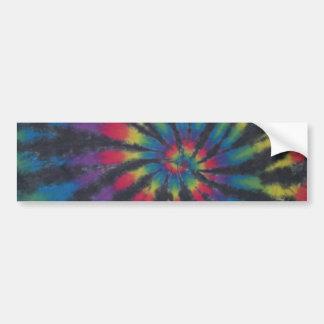 Black Stripe Tie Dye Swirl Sticker