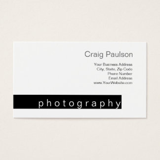 Black Stripe White Trend Photography Business Card