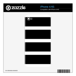 Black Stripe With White Skins For iPhone 4