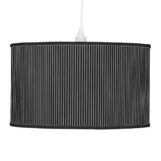 Black Striped Pendent Lamp