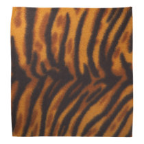 Black Striped Tiger fur or Skin Texture Template Bandana