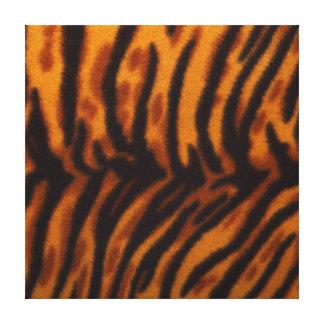Black Striped Tiger fur or Skin Texture Template Canvas Print