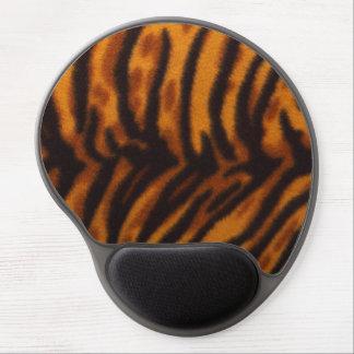 Black Striped Tiger fur or Skin Texture Template Gel Mousepads