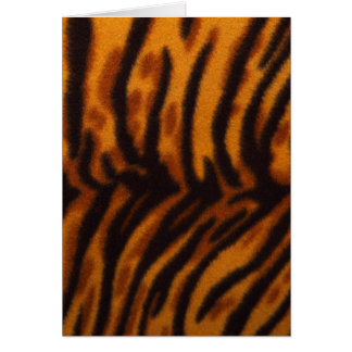 Black Striped Tiger fur or Skin Texture Template Greeting Card