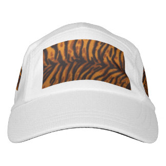 Black Striped Tiger fur or Skin Texture Template Hat