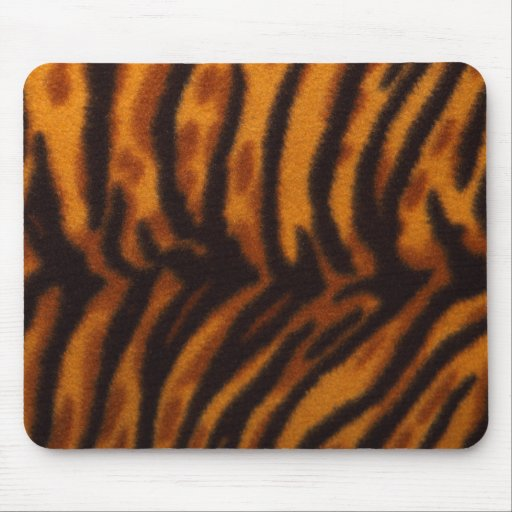 Black Striped Tiger fur or Skin Texture Template Mouse Pads