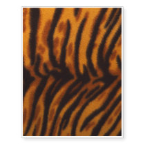 Black Striped Tiger fur or Skin Texture Template Temporary Tattoos
