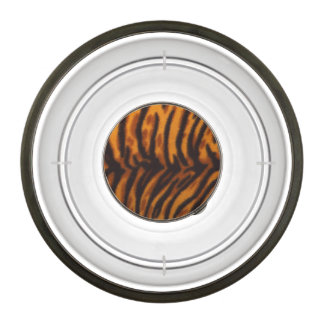 Black Striped Tiger fur or Skin Texture Template Pet Bowl