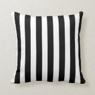 Black Stripes (Add 2nd Color) Throw Pillow