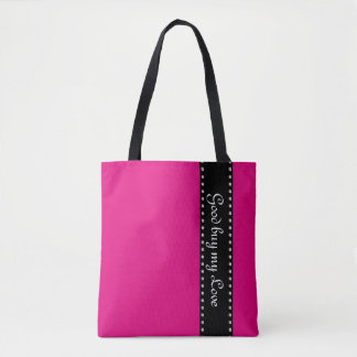 Black Stripes Border with dots garland silver Tote Bag