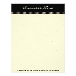 Black Stripes ~ Business Letterhead Letter Work
