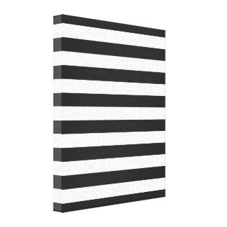Black Stripes Canvas Print