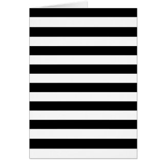 Black Stripes Greeting Card