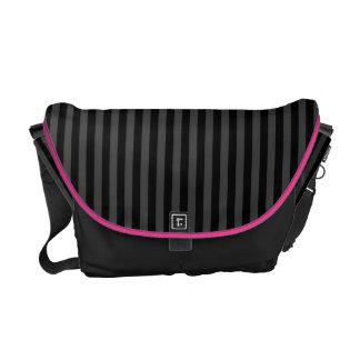 Black Stripes Messenger Bag