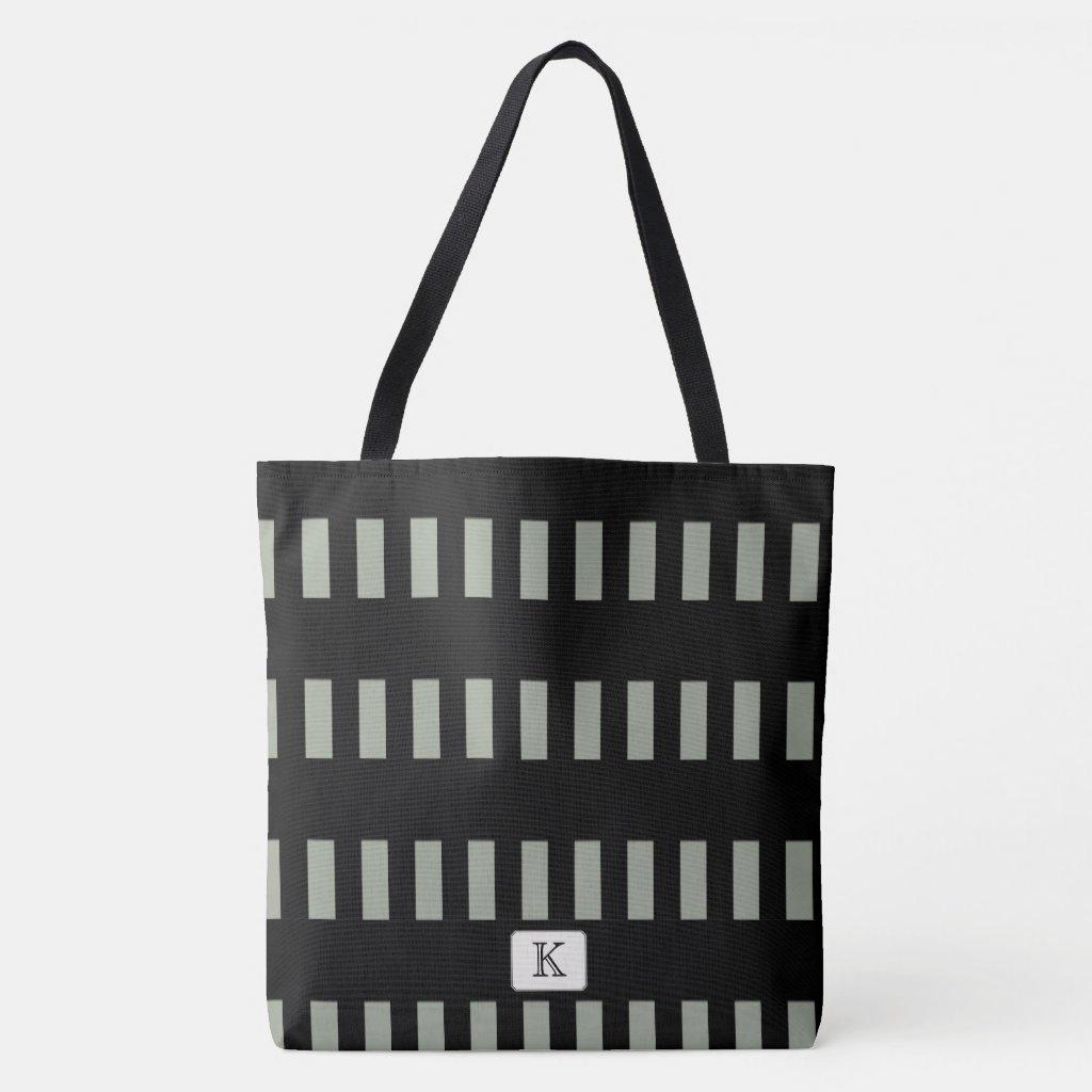Black Stripes on any Color Custom monogram
