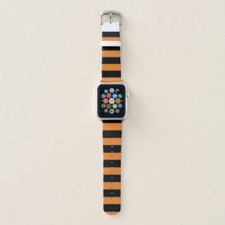 Black Stripes on Custom Color Apple Watch Band