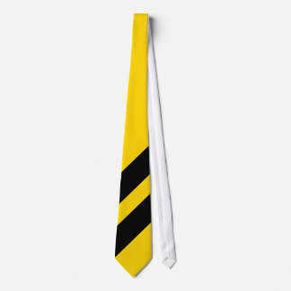 Black Stripes on Gold Background Tie