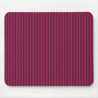 Black Stripes on Pink Mouse Pad