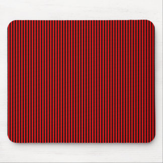 Black Stripes on Red Mouse Pad
