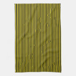 Black Stripes on Yellow Hand Towel