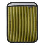 Black Stripes on Yellow iPad Sleeve