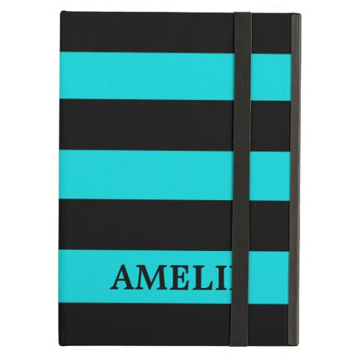 Black Stripes Pattern {pick your background color} Case For iPad Air