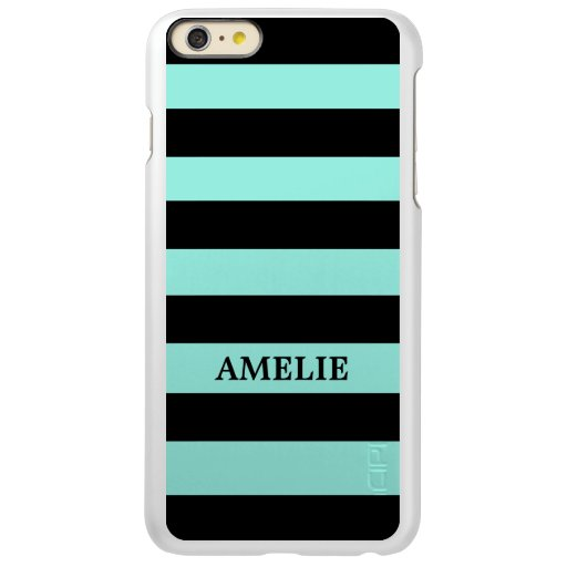 Black Stripes Pattern {pick your background color} Incipio Feather Shine iPhone 6 Plus Case