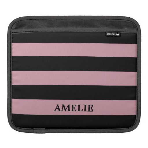 Black Stripes Pattern {pick your background color} iPad Sleeve