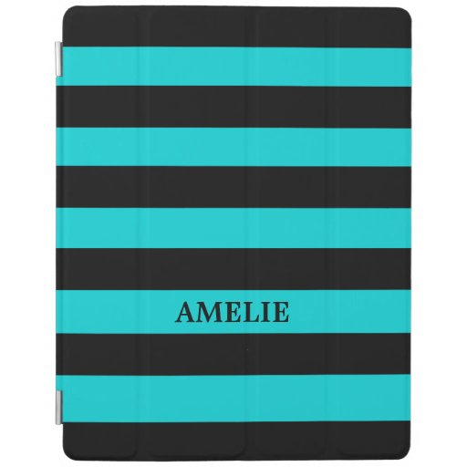 Black Stripes Pattern {pick your background color} iPad Smart Cover