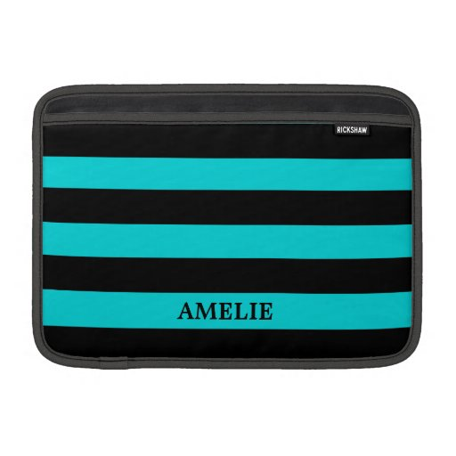 Black Stripes Pattern {pick your background color} MacBook Air Sleeve