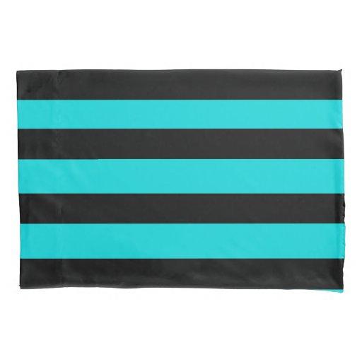 Black Stripes Pattern {pick your background color} Pillow Case