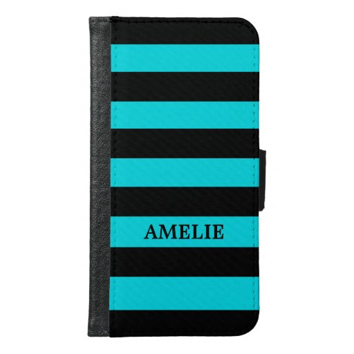 Black Stripes Pattern {pick your background color} Samsung Galaxy S6 Wallet Case