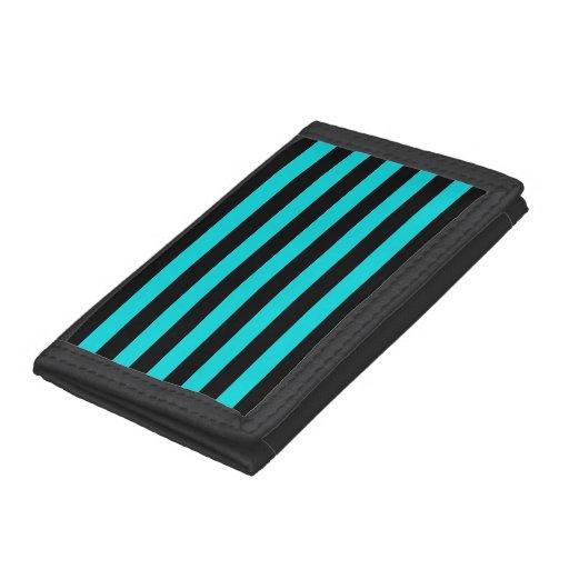 Black Stripes Pattern {pick your background color} Trifold Wallet