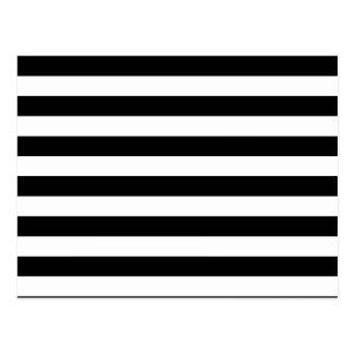 Black Stripes Postcard