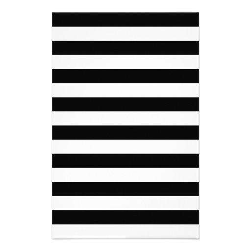 Black Stripes Stationery Paper