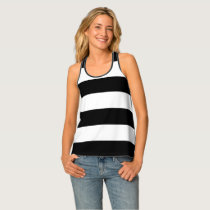Black Stripes Tank Top