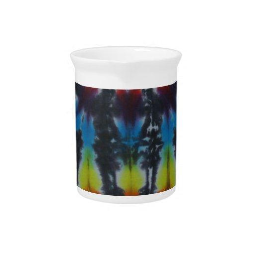 Black Stripes Tie Dye Pattern Pitchers