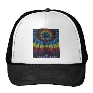 Black Stripes Tie Dye Pattern Trucker Hat