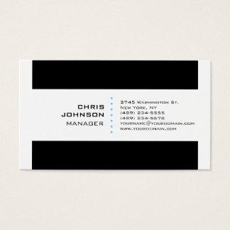 Black Stripes White Blue Manager Business Card