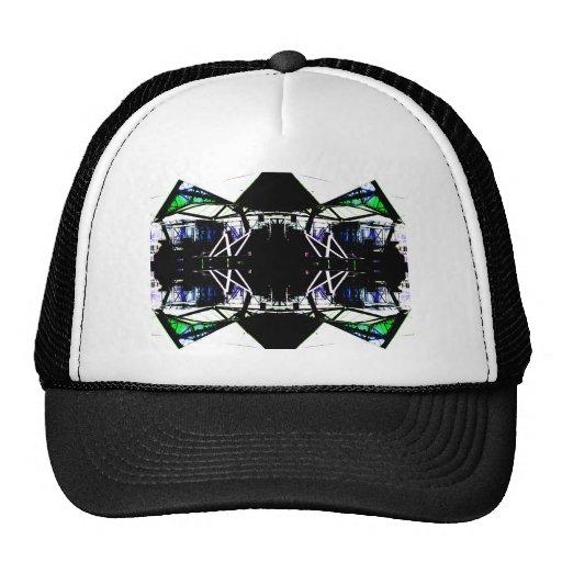 Black Structural Urban Art Form Cricketdiane Trucker Hats