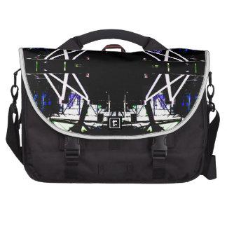 Black Structural Urban Art Form Cricketdiane Bag For Laptop