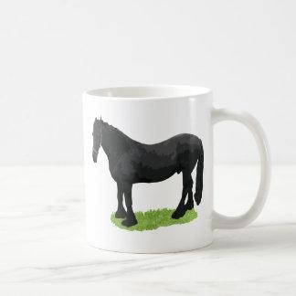 Black stud coffee mug