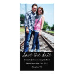 Black  Style Save The Date Photo Cards