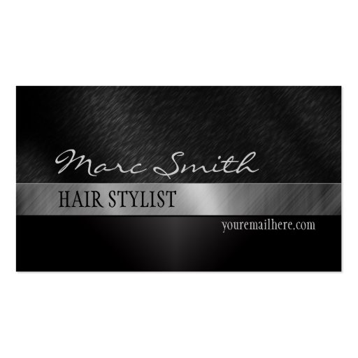 Black Stylish Business Card Two Sided Standard Business