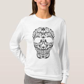 Black Stylized Skull T-Shirt