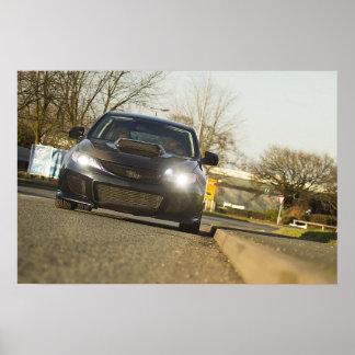 Black Subaru Impreza WRX Print