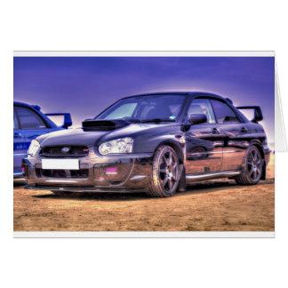 Black Subaru Impreza WRX STi Card