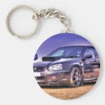 Black Subaru Impreza WRX STi Keychains