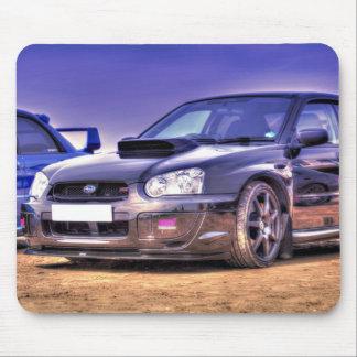 Black Subaru Impreza WRX STi Mouse Pad